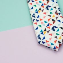 White 3angle Necktie