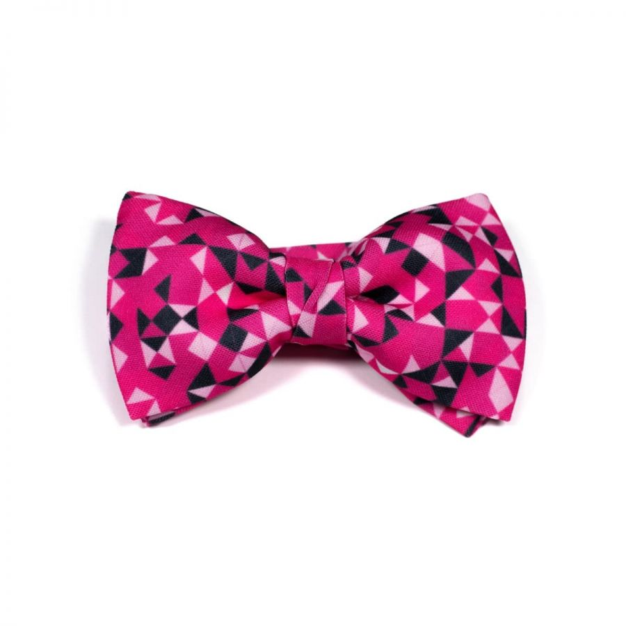 Dark Pink 3angle Classic Bow Tie