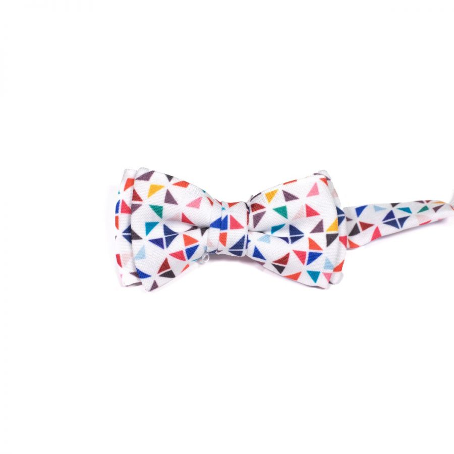 White 3angle Kids Bow Tie